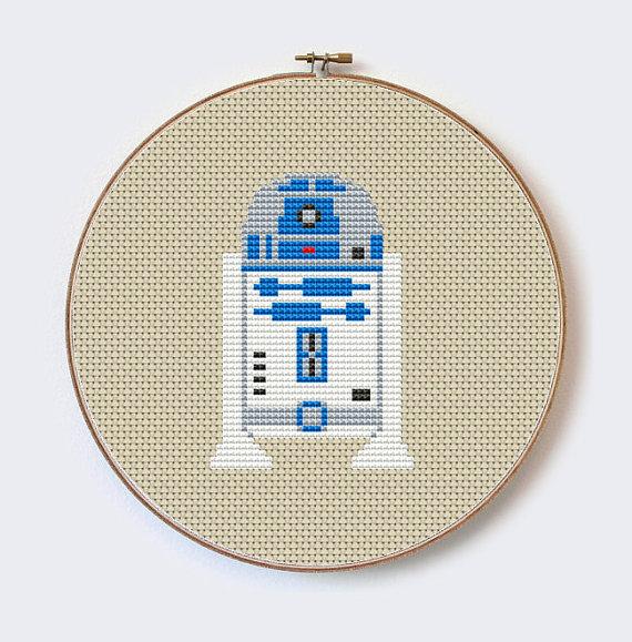 Buy 2 Get 1 Free Star Wars R2D2 -Modern robot,hero cross stitch ...