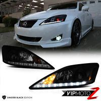 For 2006 2013 Lexus Is250 Is350 Led Strip Drl Led Headlights Assembly Left Right Ebay Lexus Lexus Is250 Projector Headlights