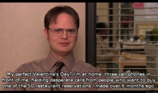 When Dwight Described The Best Way To Spend Valentine S Day Valentines Day Memes Valentines Memes The Office Valentines