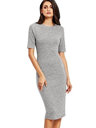 105e6019 Women's Wear to Work Dresses - SheIn Womens Short Sleeve Elegant Sheath  Pencil Dress >>> Check out this great product. (This is an Amazon affiliate  link)