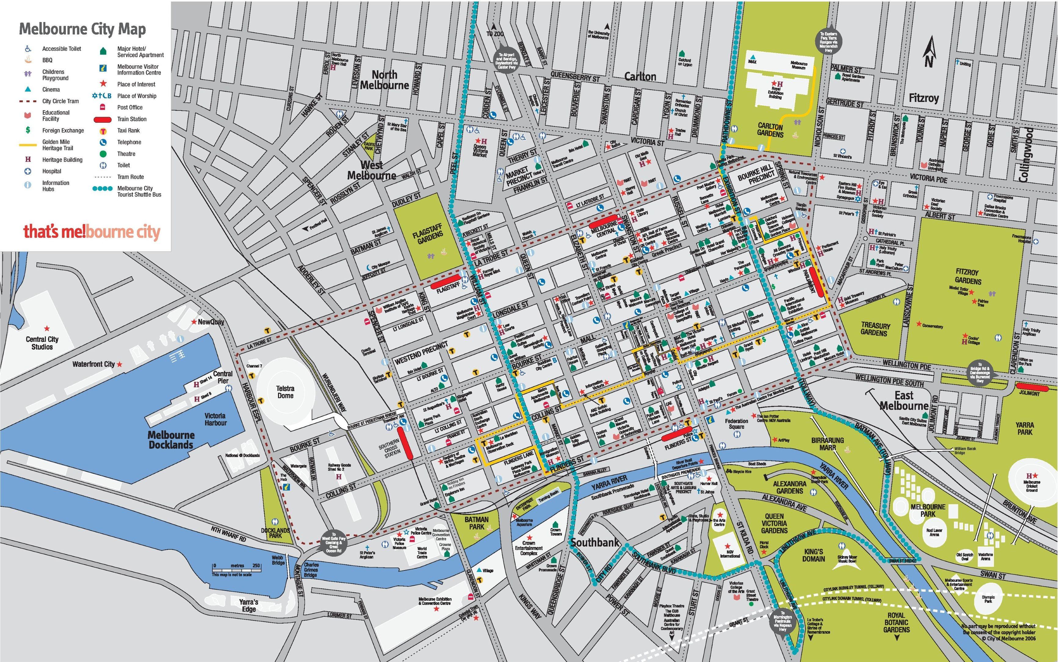 Melbourne CBD map Places to Visit Pinterest Melbourne