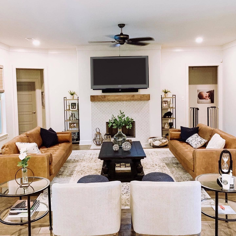 Sven Charme Tan Sofa Long Living Room Farm House Living Room Leather Couches Living Room #tan #sofa #living #room #decor