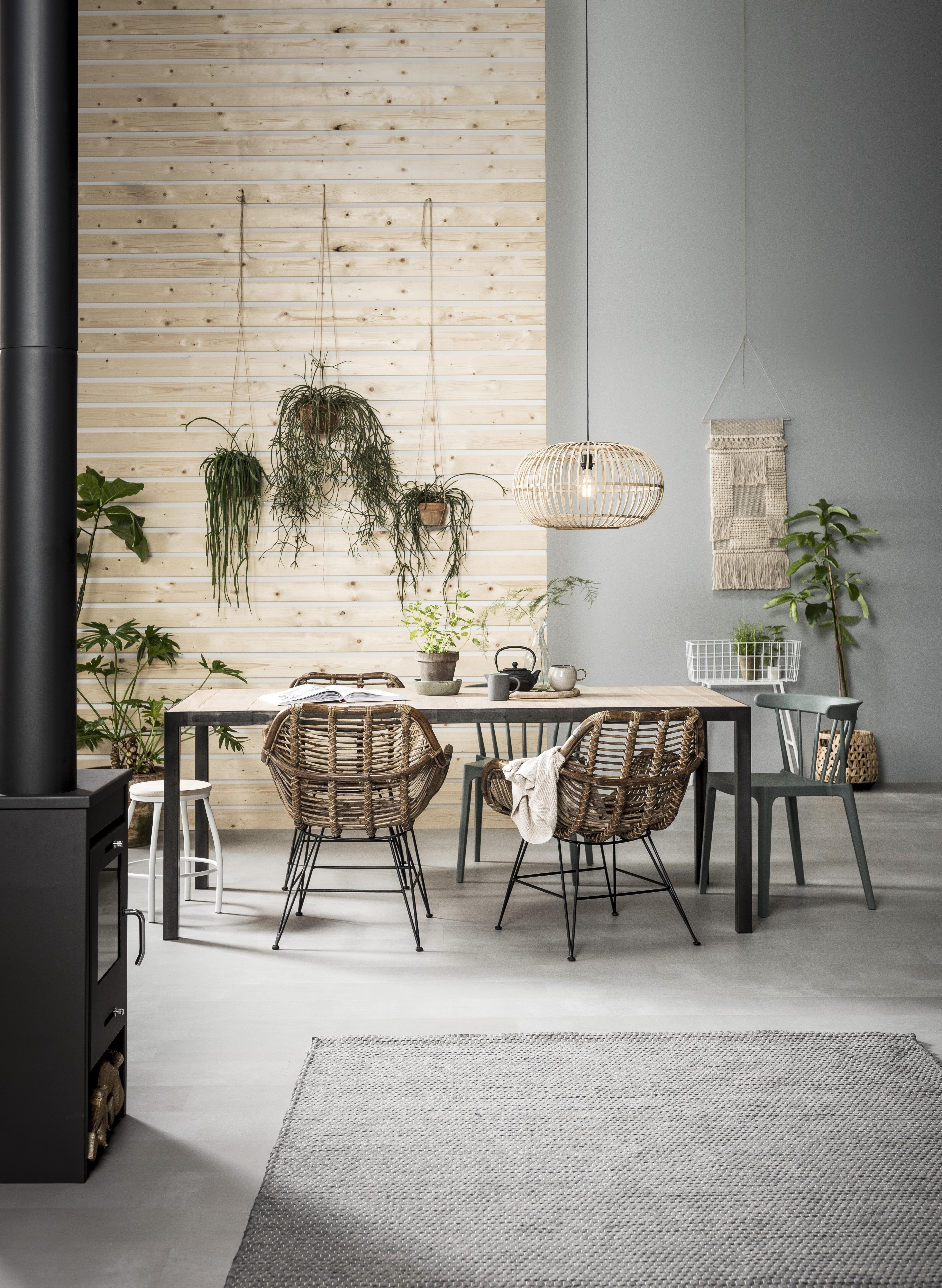 green house eetkamer rotan stoel riet natuurlijke materialen rotan chair
