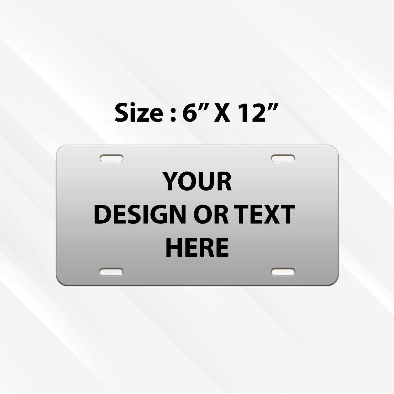 BLACK Custom Personalized License Plate  Aluminum 6 X 12 auto tag