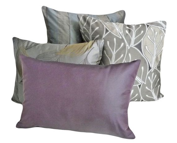 Solid Purple Decorative Pillows : Plum Purple Pillow, Contemporary, Decorative Throw Pillows, Solid Purple, Couch Cushion, Sofa ...