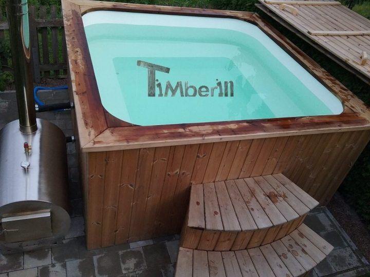 Badetonne eckig Micro Pool für 16 Personen, Norbert