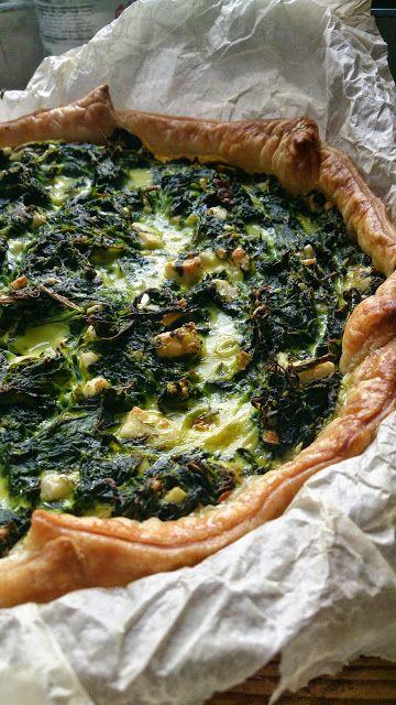 Spinach pie  Spinazie taart.