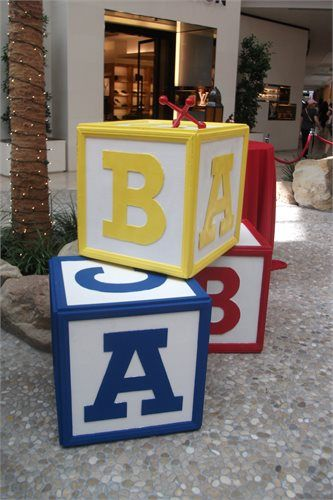 Oversized, Children's Giant Metal Jack and Wooden BLOCK. ABC. DEF