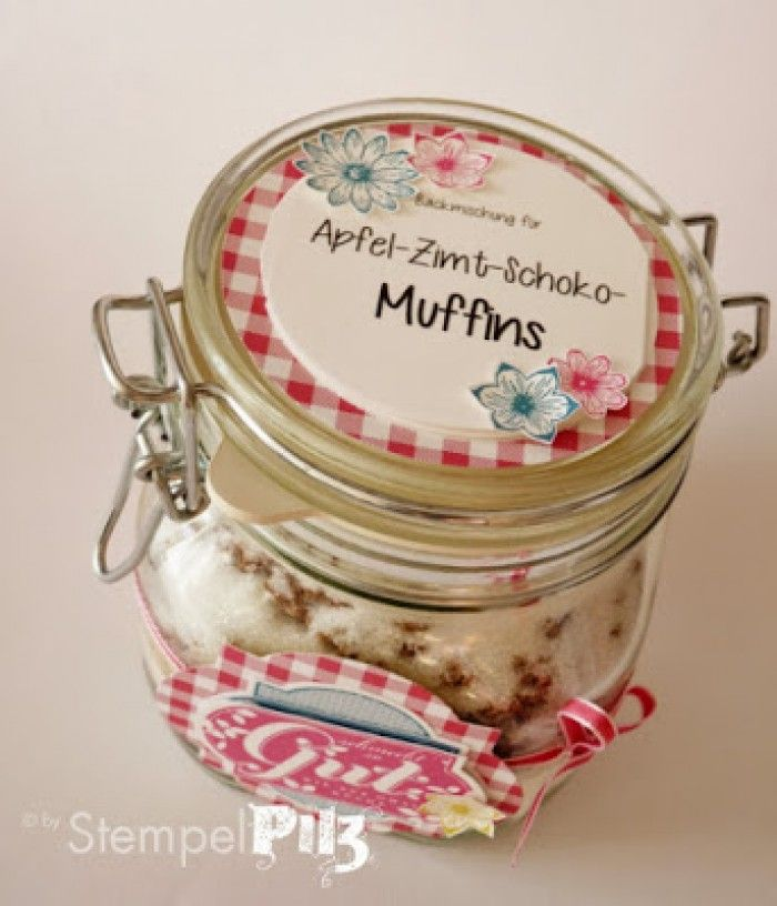 Apfel-Zimt-Schoko Muffins Backmischung. Kleine Geschenke aus der ...