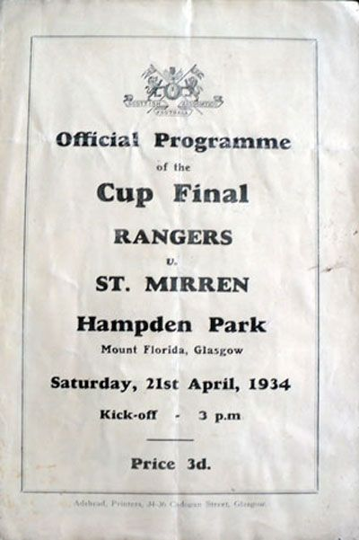 1934 Scottish Cup Final