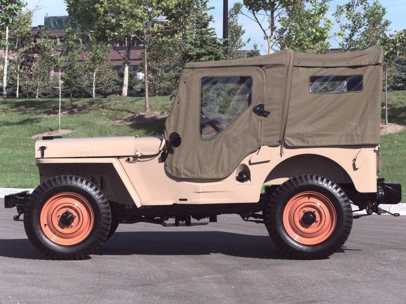 Jeep Cj 2a With Full Soft Top Configuration Jeep Cj Custom