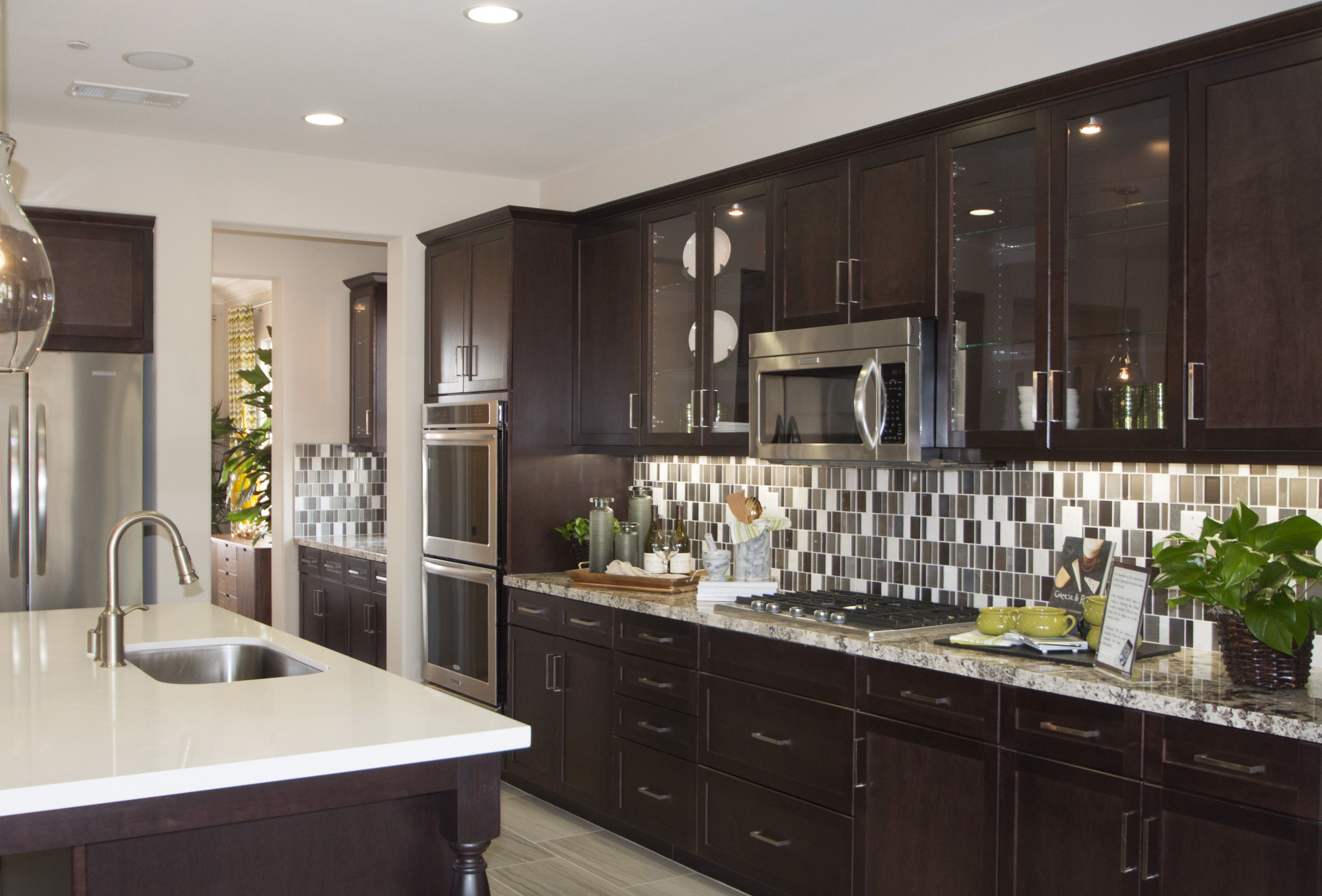 shaker maple with our java finish home decor kitchen kitchen cabinets on kitchen cabinets java id=66406