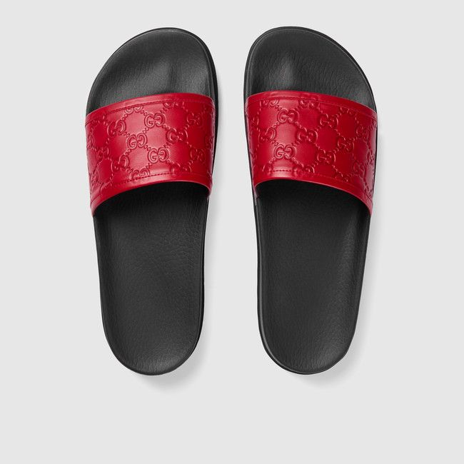 dc9fe55be Gucci Signature slide sandal | Footwear and accessories | Shoes ...