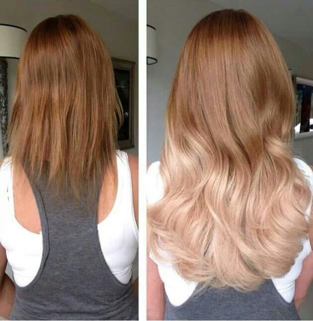 A Gorgeous Ombre Effect Completed Using Hair Extensions Gorgeous