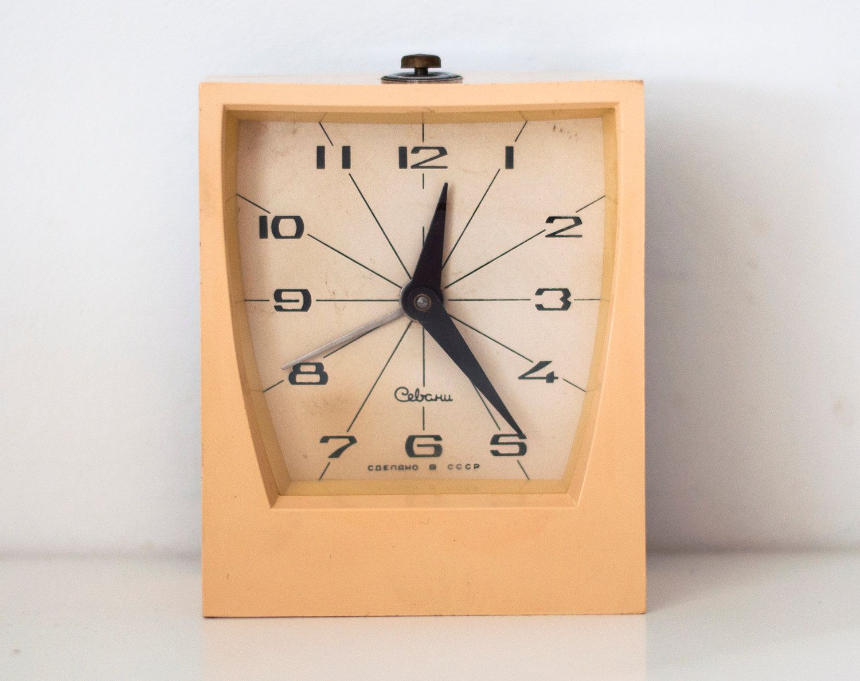 Soviet clock russian clock vintage clock mechanical alarm clock soviet clock russian clock vintage clock mechanical alarm clock working ussr sevani from soviet union amipublicfo Images