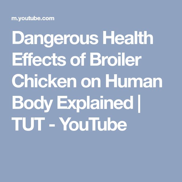 Dangerous Health Effects Of Broiler Chicken On Human Body Explained