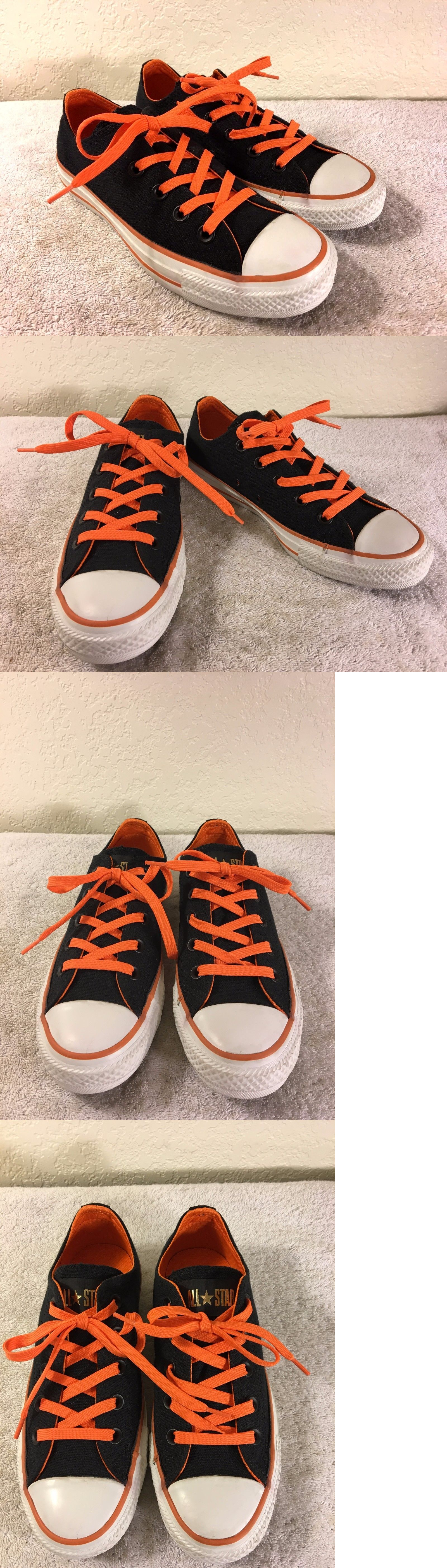 Women All Shapes And Sizes: Converse All Star Womens Low Top Black And Orange Shoes Size 5.5 Nice Shape!!! BUY IT NOW ONLY: $28.49
