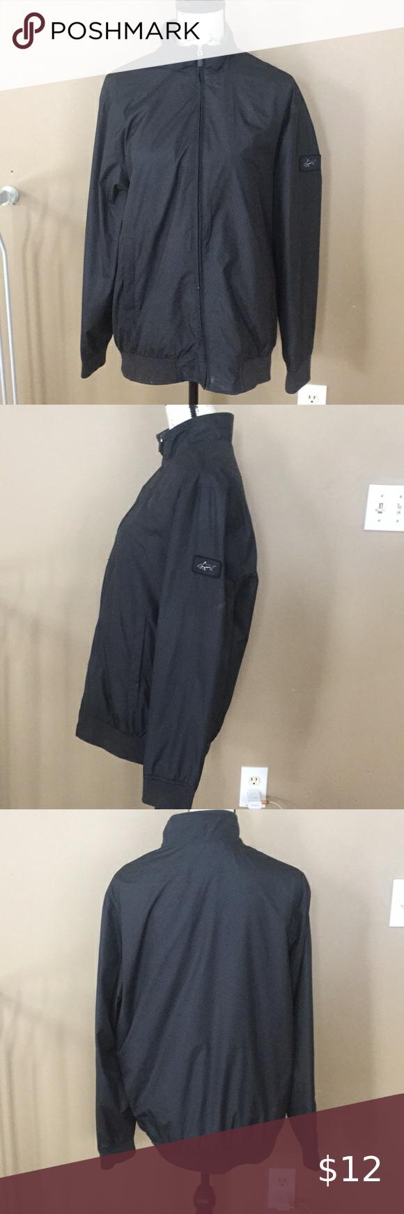 Greg Norman Men S Jacket Size M Black Wind Breaker In 2020 Black Windbreaker Clothes Design Windbreaker