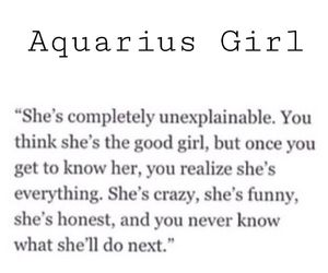 Aquarius quotes by bunny_gal1991 on We Heart It | Aquarius Daily