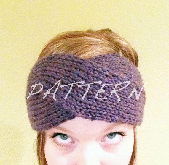 Pattern only tordu bandeau knitted ear warmer headband turban pattern only tordu bandeau knitted ear by emilyscraftboutique 400 dt1010fo