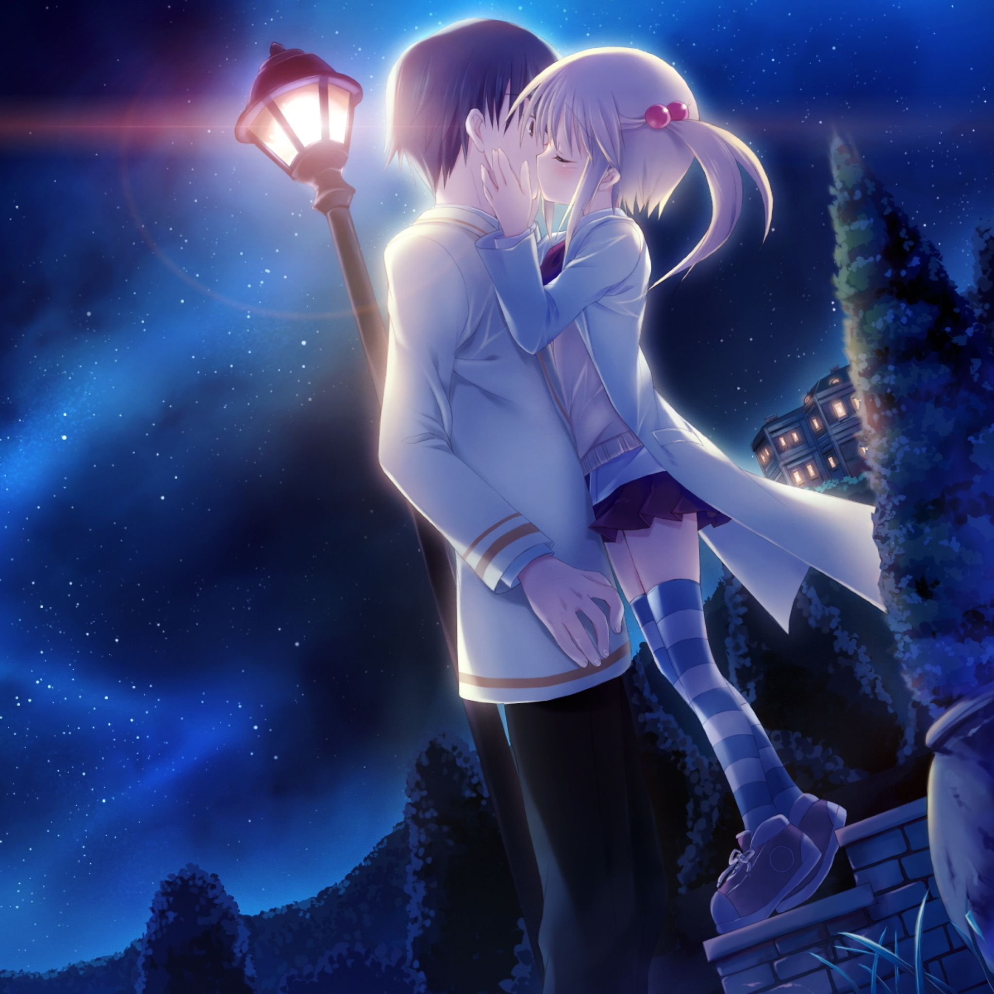 Celestial Night Tap To See More Cute Anime Love Wallpapers