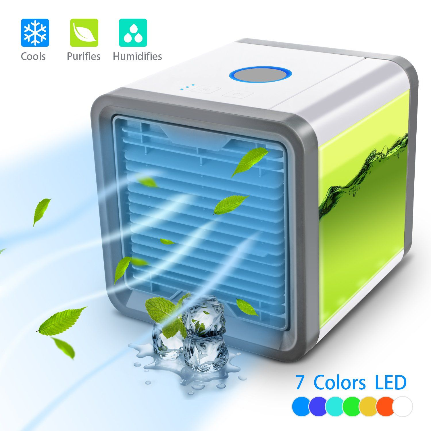 Personal Space Cooler 3in1 Evaporative Air Conditioner Humidifier Air Purifier 3 Fan Speeds 4 Foot Air Cooler Fan Air Cooler Air Purifier Humidifier