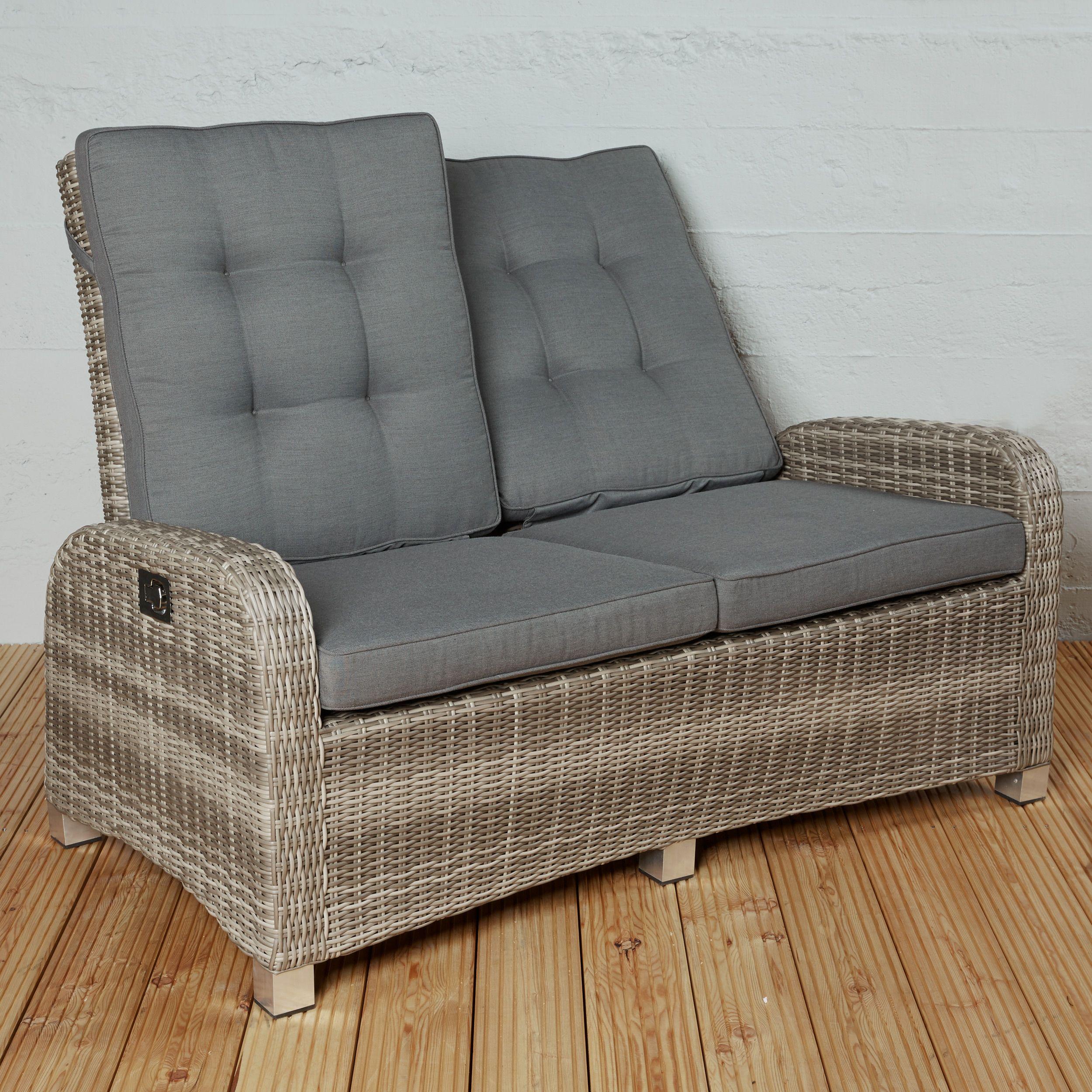 Poly Rattan Gartensofa Couch Terrassensofa 2 Sitzer Braun Gartenmbel Set WohnzimmerSofaSofas