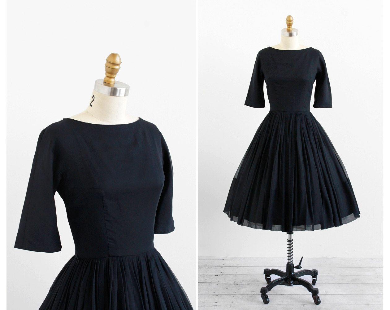 Vintage 1960s Dress Audrey Hepburn Dress Little Black Chiffon 1950s Party Dress Vintage Dresses 1960s 1950s Party Dresses 1960 S Dress [ 1000 x 1260 Pixel ]