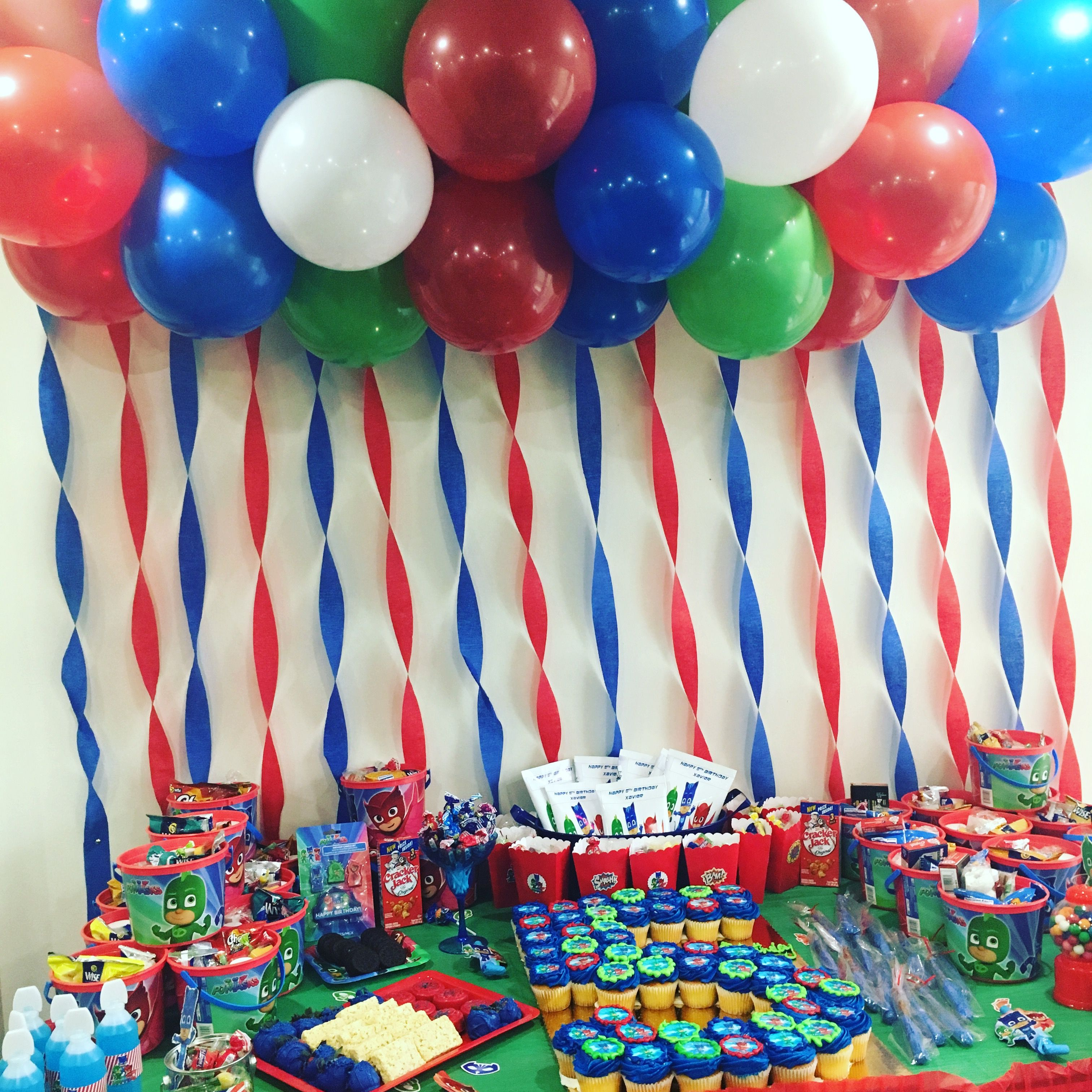 PJ Masks candy table | Pj Masks | Fiestas de cumpleaos ...