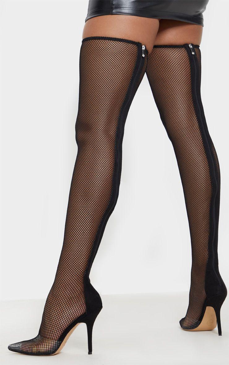e471c25cf28 Black Thigh High Fishnet Boot   Shoot   Pinterest   High knees ...