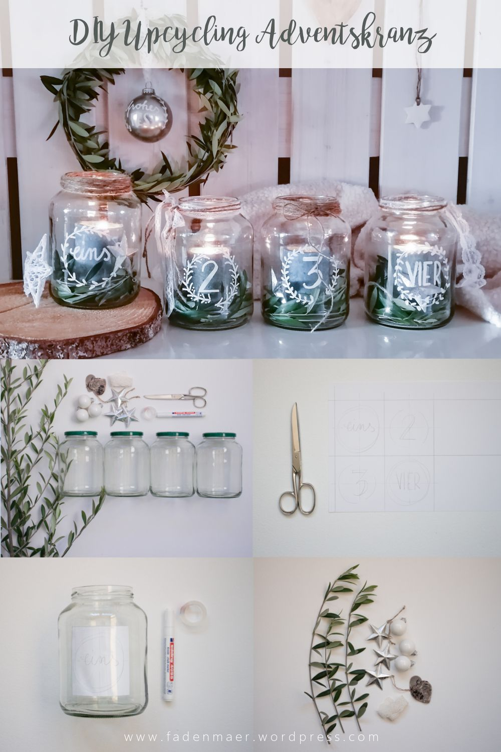 Photo of DIY Upcycling Adventskranz