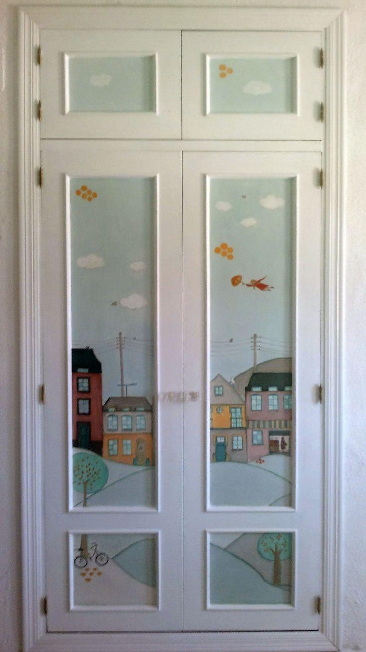resultado de imagen de pintar armarios empotrados