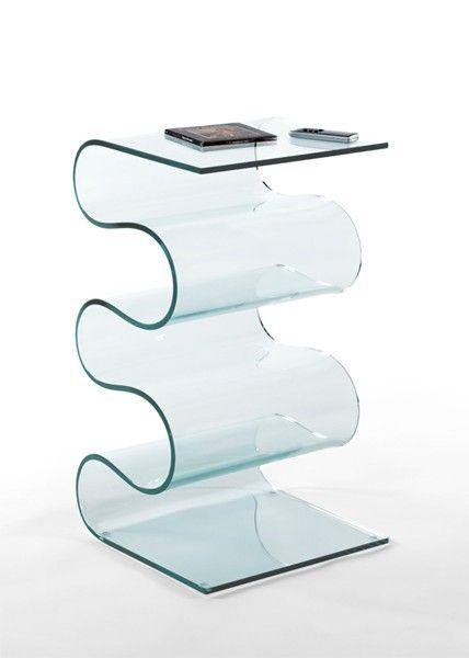 gu ridon onde en verre courb 10 mm meubles en verre. Black Bedroom Furniture Sets. Home Design Ideas