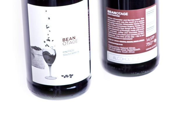 Label design for a coffee-flavoured Pinotage.