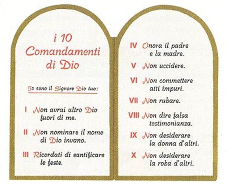 i dieci comandamenti (con immagini) | Dieci comandamenti ...