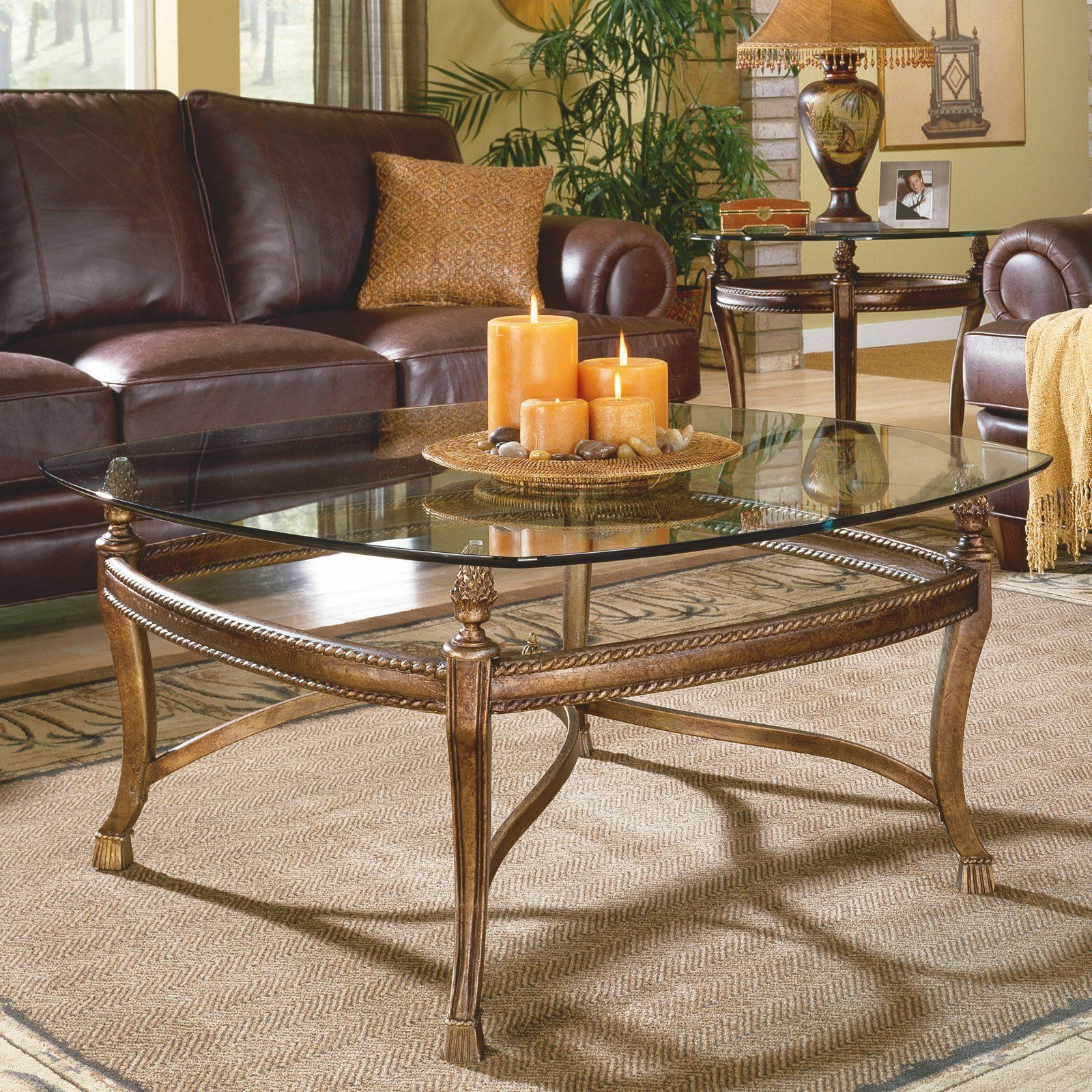Hammary suffolk bay 2 piece square coffee table set 839 99