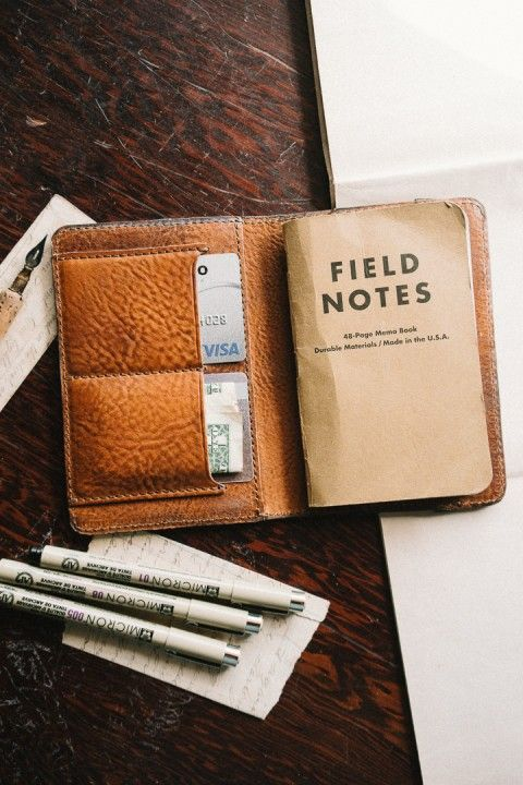 Dakota Leather Field Notes Cover  Saddle Tan  Edc