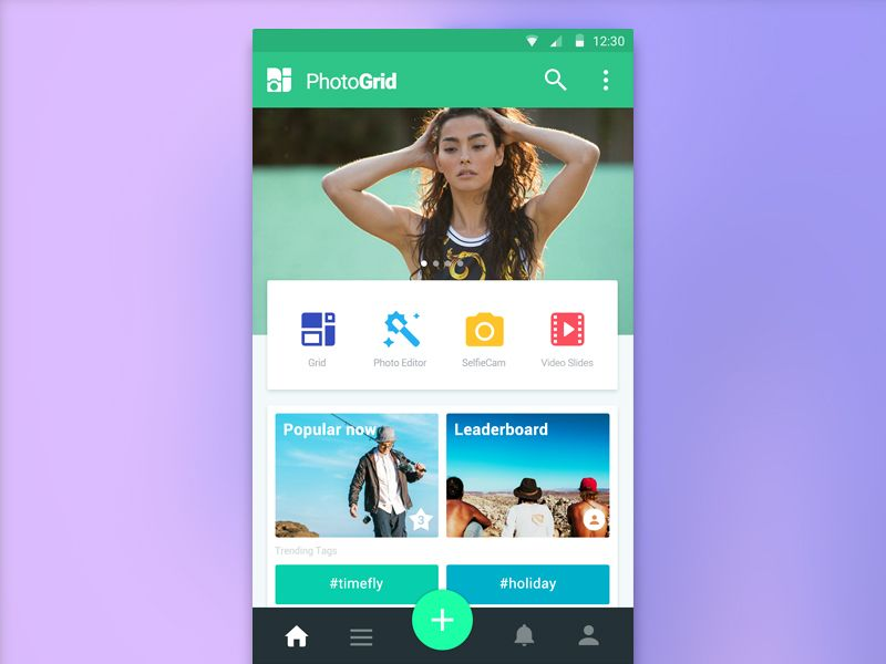 PhotoGrid home page