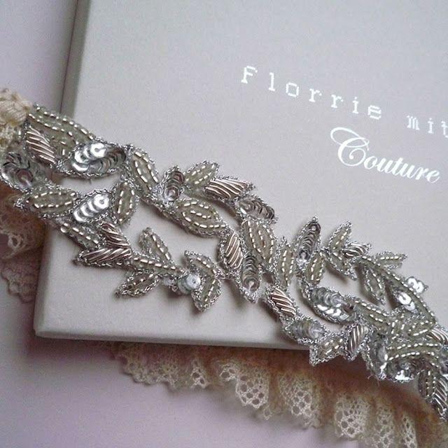 Such a beautiful garter!  Bride De Force