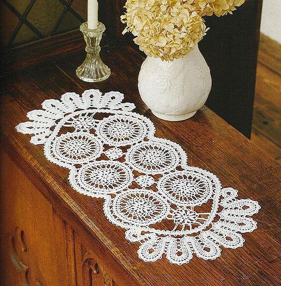Long Circle Doily Crochet Pattern Doilies Pinterest Crochet