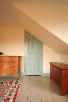 Slanted Door In Attic Living Space Attic Renovation