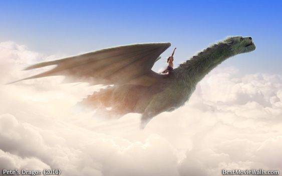 Exploring the white #clouds on the back of a #dragon :] How cool is this? #PetesDragon