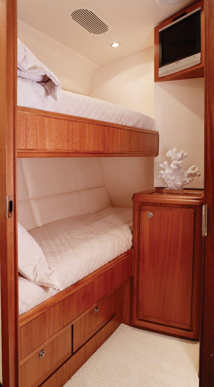Best Bertram 70 Twin Bunks Yacht Bedroom Luxury Luxurious 400 x 300