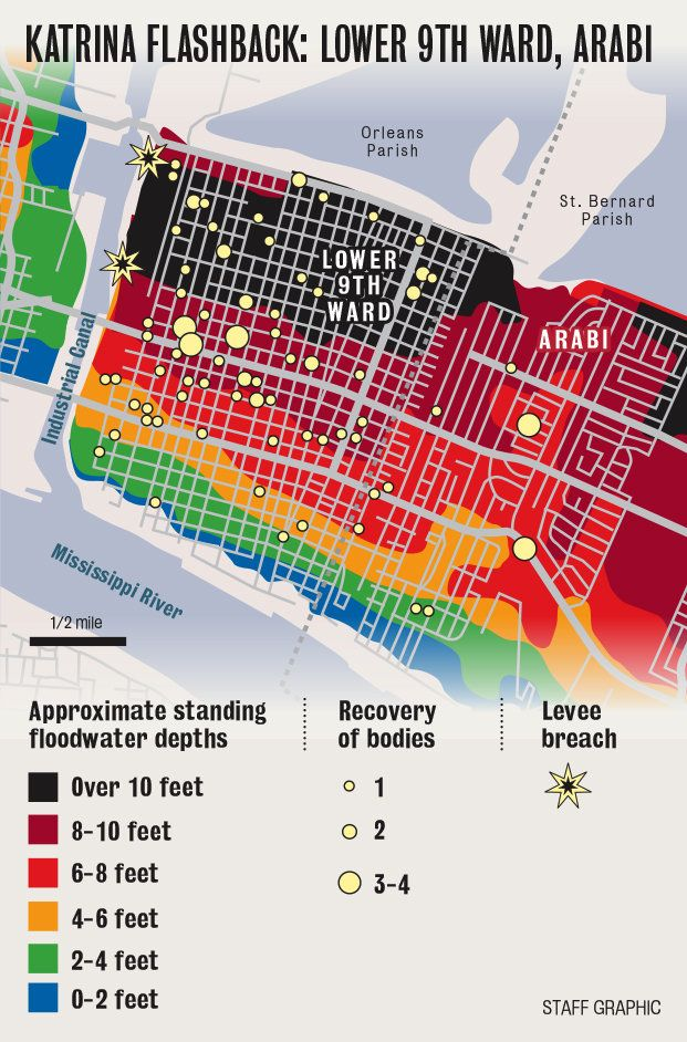 Hurricane Katrina New Orleans Map.Hurricane Katrina Leaves A Quiet Hush Over New Orleans Lower 9th