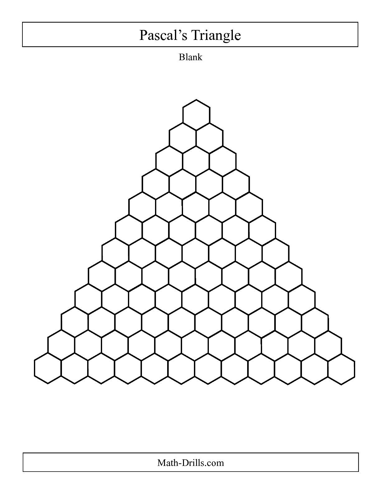 The Pascal S Triangle Blank B Math Worksheet From The Patterning Worksheets Page At Math