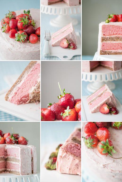 Strawberry Banana Milkshake Cake Sugar Spice Everything Nice
