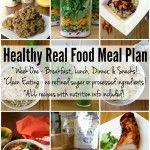 Healthy Real Food Meal Plan – Week 1