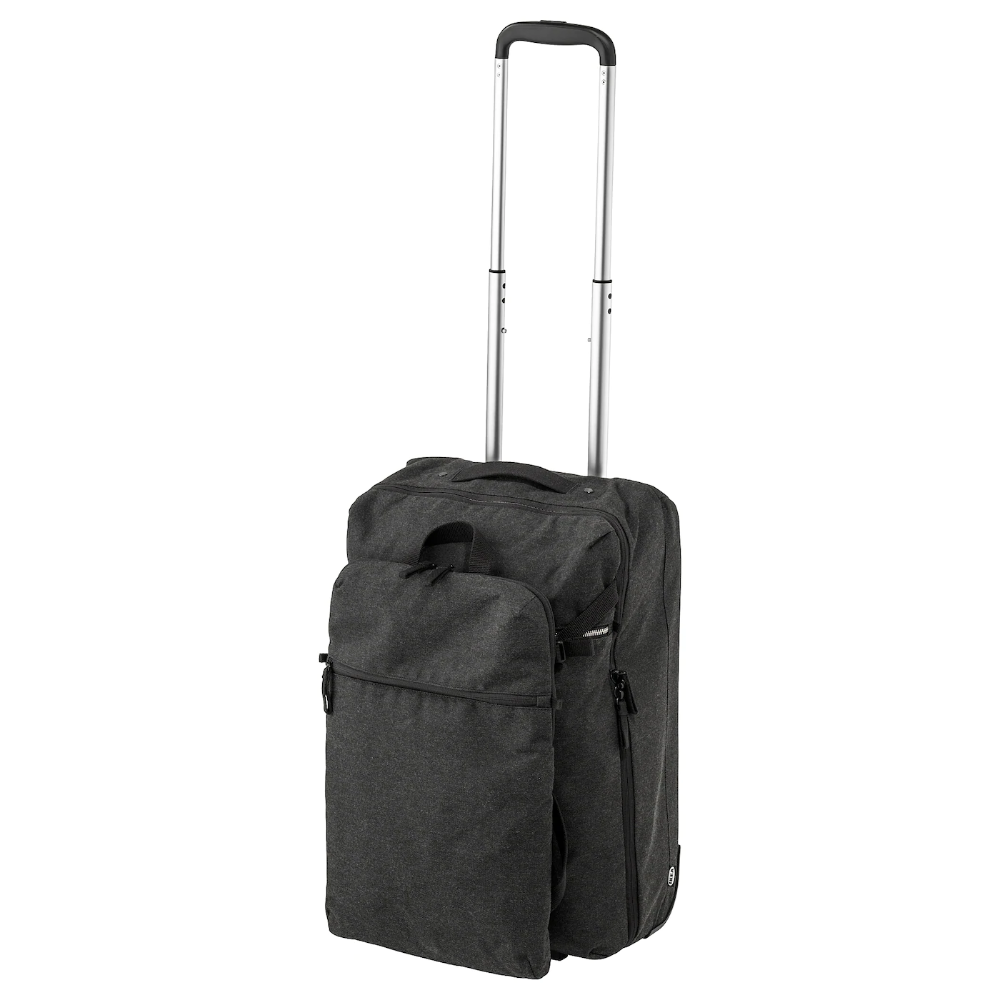 Forenkla Bagage Cabine A Roul Et Sac A Dos Gris Fonce En 2020 Petit Sac A Dos Bagage Sac A Dos