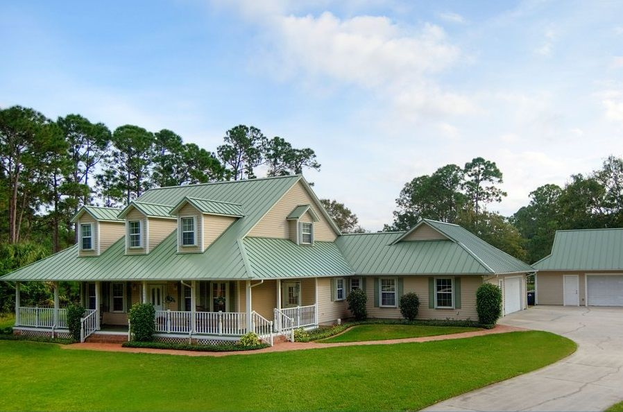Standing Seam Metal Roofing Florida Residential Hield Green Roof House Exterior Paint Colors For House House Exterior