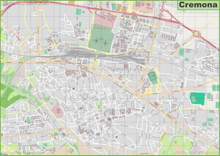 Large detailed map of Cremona Maps Pinterest Italy